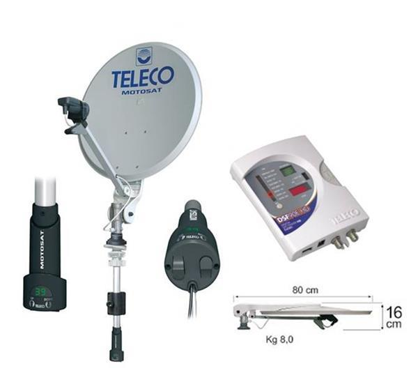 Grote foto teleco motosat digimatic 85cm telecommunicatie satellietontvangers