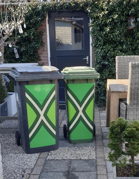 Grote foto achterhoekse vlag kliko sticker containersticker tuin en terras tuindecoratie