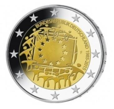 Grote foto duitsland 2 euro 2015 30 jaar europese vlag verzamelen munten overige