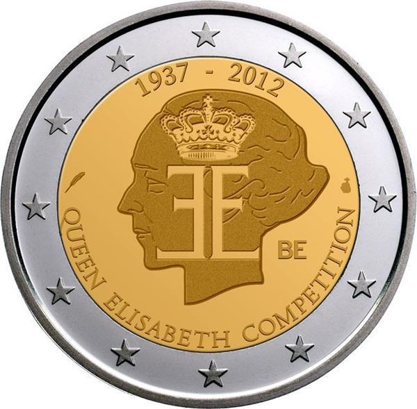 Grote foto belgi 2 euro 2012 queen elisabeth competition verzamelen munten overige