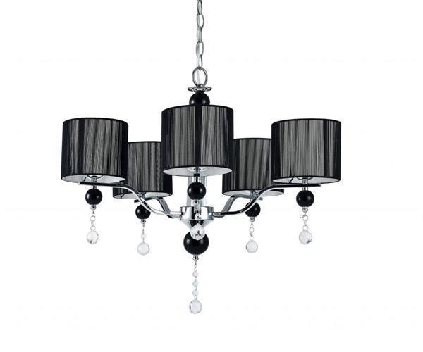 Grote foto kroonluchter hanglamp plafondlamp chromium zwart huis en inrichting overige