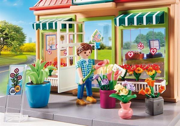 Grote foto playmobil city life 70016 mijn bloemenwinkel kinderen en baby duplo en lego