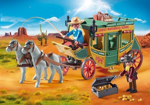 Grote foto playmobil 70013 western koets kinderen en baby duplo en lego