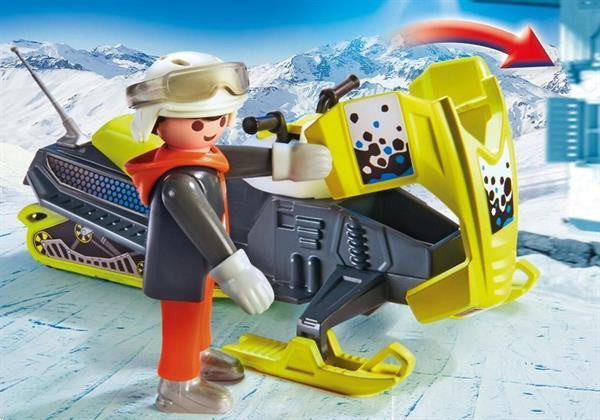 Grote foto playmobil family fun 9285 sneeuwscooter kinderen en baby duplo en lego