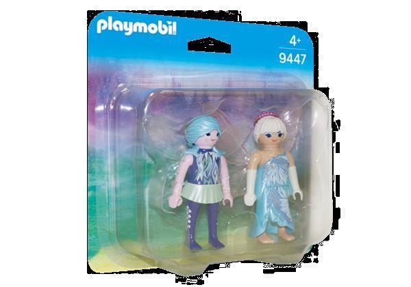 Grote foto playmobil duopack 9447 winterelfen kinderen en baby duplo en lego