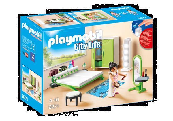 Grote foto playmobil city life 9271 slaapkamer met make up tafel kinderen en baby duplo en lego