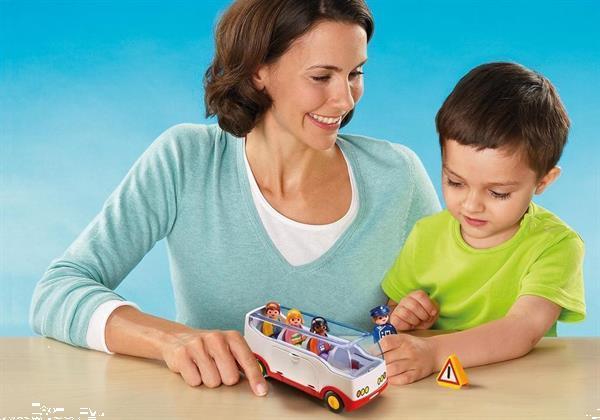 Grote foto playmobil 1.2.3 6773 autobus kinderen en baby duplo en lego