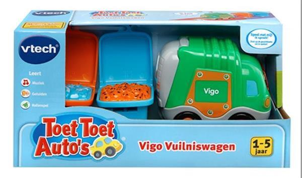 Grote foto toet toet auto vigo vuilniswagen kinderen en baby speelgoed voor jongens