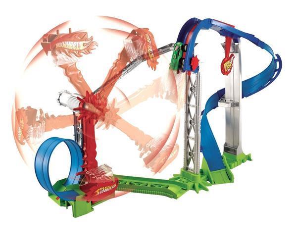 Grote foto hot wheels rev ups revolution stunt park kinderen en baby speelgoed voor jongens