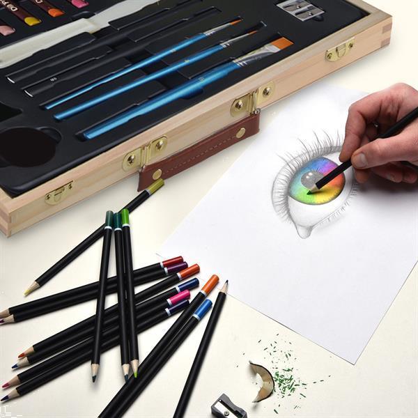 Grote foto 45 delig schilderset tekenset in koffer verzamelen overige verzamelingen