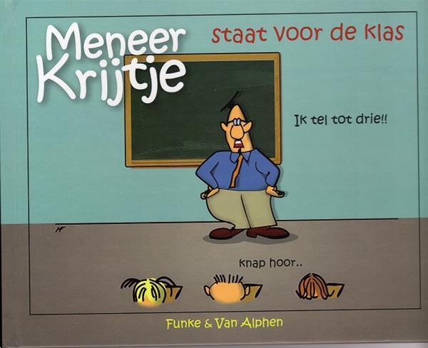 Grote foto meneer krijtje staat voor de klas boeken jeugd 10 tot 12 jaar