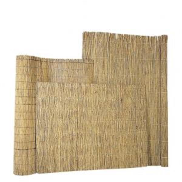 Grote foto rietplaat 2 cm dik met stalendraad gevlochten 200 x 200 cm tuin en terras hekken en schuttingen