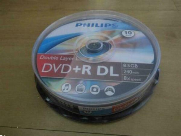 Grote foto philips spindel 10 x dvd r dl nieuw . computers en software cd roms dvd en blu rays schrijfbaar