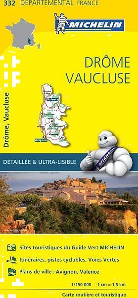 Grote foto fietskaart wegenkaart landkaart 332 drome vaucluse d boeken atlassen en landkaarten