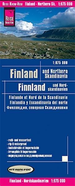 Grote foto wegenkaart landkaart finland en noord scandinavie world boeken atlassen en landkaarten
