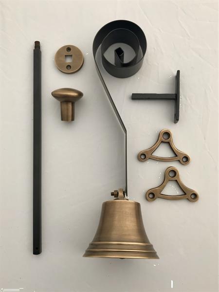 Grote foto trekbel deurbel bel oudebel authentieke bel antiek en kunst woonaccessoires