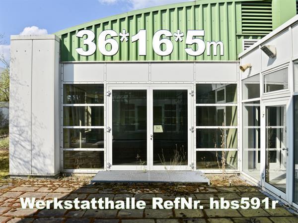Grote foto bedrijfshalle 32x16x5m atelier met gebogen dak bedrijfspanden opslagruimte te koop