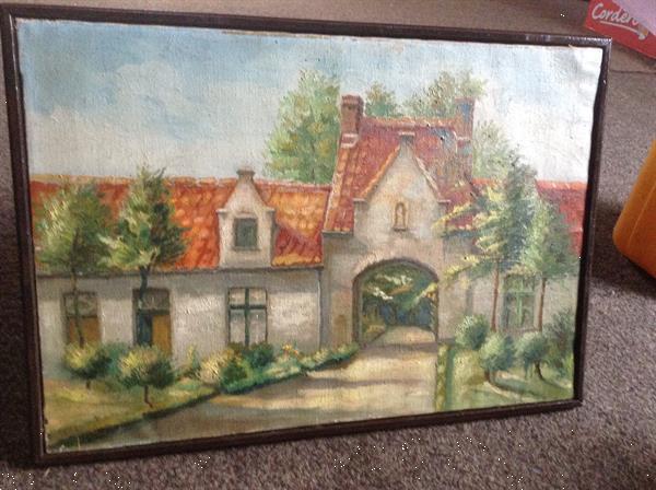Grote foto schilderij van een zicht uit brugge w vlaanderen huis en inrichting schilderijen en foto