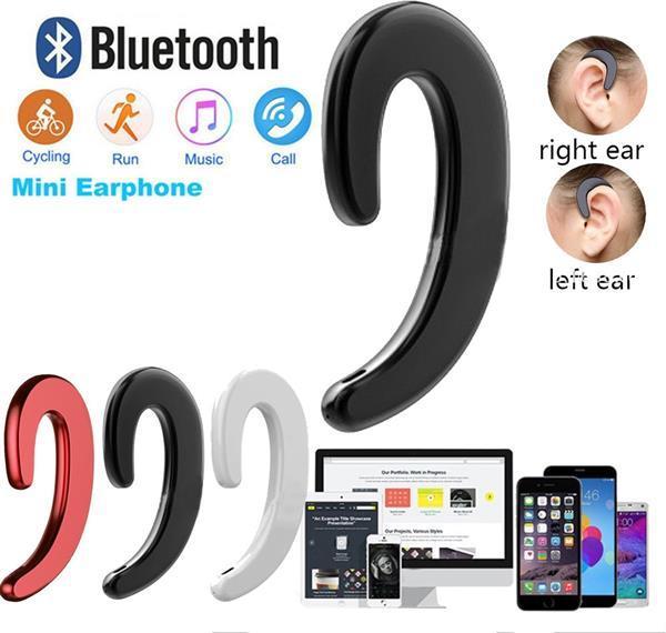 Grote foto draadloze bluetooth 4.1 bone conduction headset oortjes met audio tv en foto koptelefoons