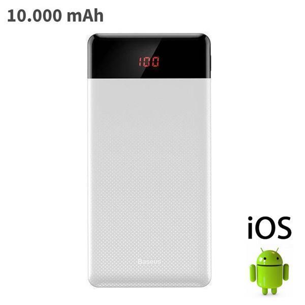 Grote foto externe 10.000mah powerbank noodaccu oplader charger wit 076 telecommunicatie batterijen en accu