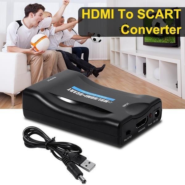Grote foto hdmi scart convertor adapter omvormer schakelaar verloop computers en software overige
