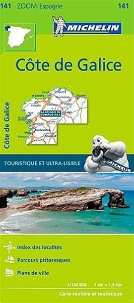 Grote foto fietskaart wegenkaart landkaart 141 costa galicia galici boeken atlassen en landkaarten