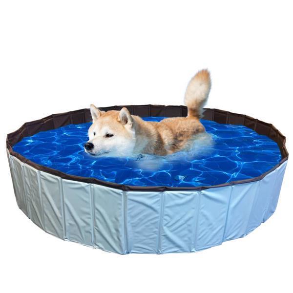 Grote foto pet hondenzwembad l 120x30 cm blauw dieren en toebehoren toebehoren