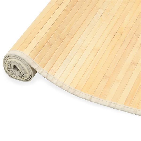 Grote foto vidaxl tapijt 80x200 cm bamboe natuurlijk huis en inrichting vloerbedekking en kleden
