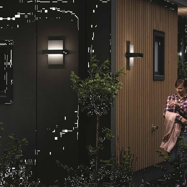 Grote foto philips mygarden led wandlamp afterglow 2x4 5 w antraciet 17 tuin en terras verlichting