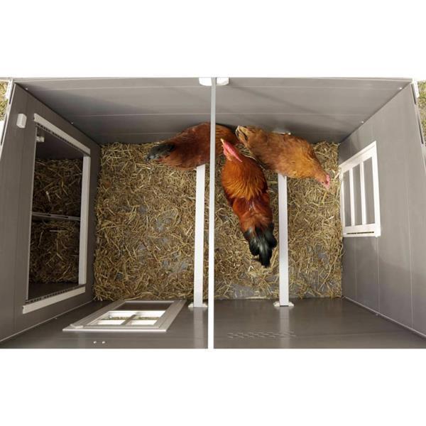 Grote foto kerbl eco kippenhok barney 137x73x83 cm kunststof grijs en w dieren en toebehoren overige