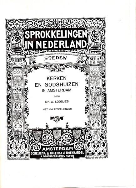 Grote foto amsterdam kerken en godshuizen j. loosjes 1948 boeken geschiedenis regio