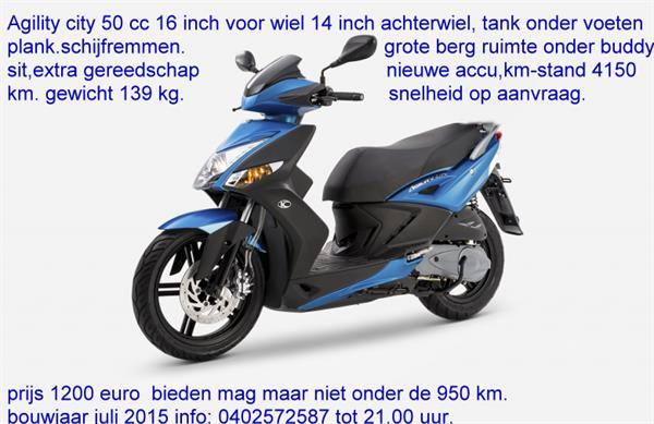 Grote foto kymco scooter agility city fietsen en brommers kymco