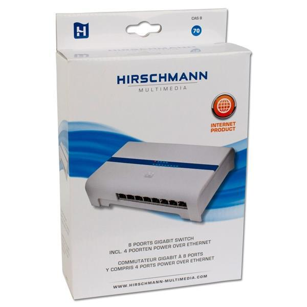 Grote foto hirschmann cas 8 poorts gb switch 4xpoe computers en software netwerkkaarten routers en switches