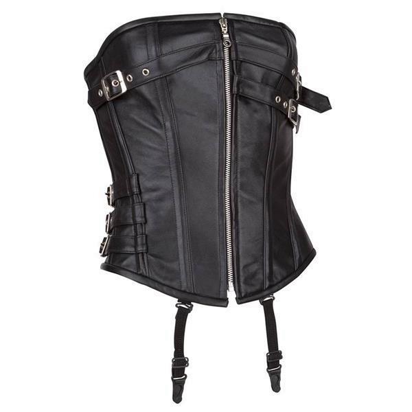 Grote foto echt leren corset model 08 in xs t m 10xl kleding dames lederen kleding