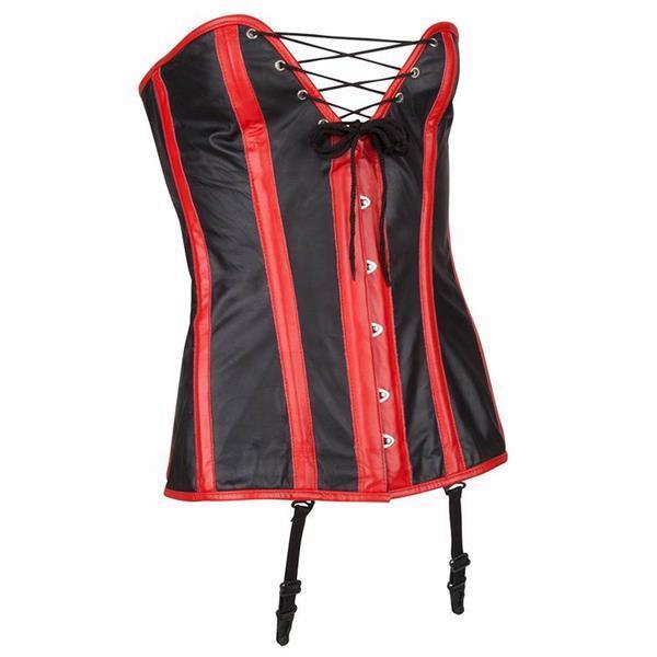 Grote foto echt leren corset model 03 in xs t m 10xl kleding dames lederen kleding