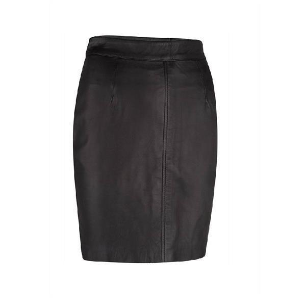 Grote foto fraaie zwart leren rok in small t m 6xl kleding dames lederen kleding