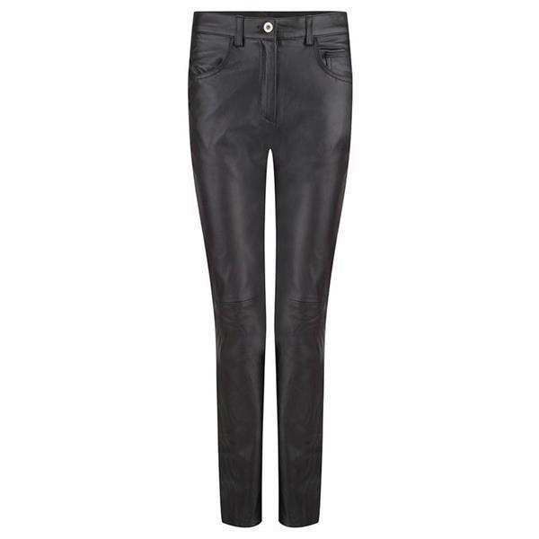 Grote foto dames leren broek model jeans van small t m 6xl kleding dames lederen kleding