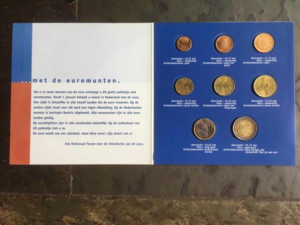 Grote foto de euro komt eraan 2 set postzegels en munten euromunten