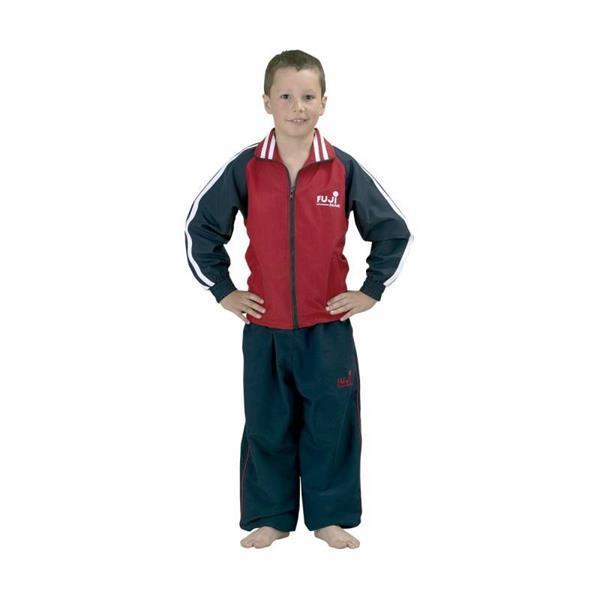 Grote foto trainingspak jeugd rood blauw kinderen en baby overige