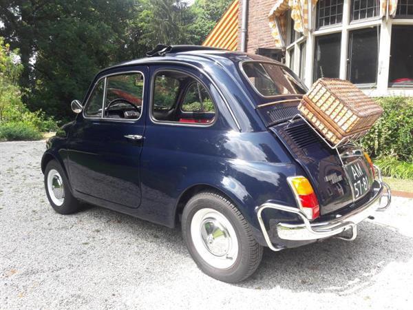 Grote foto fiat 500 luxe donkerblauw 1971 nieuwstaat auto fiat