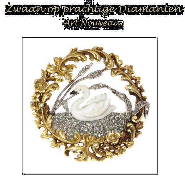 Grote foto vintage figurale brosch met prachtige diamanten sieraden tassen en uiterlijk medaillons en broches