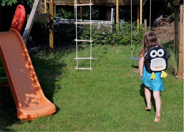 Grote foto kinder rugzak uil frankie dark brown kinderen en baby overige