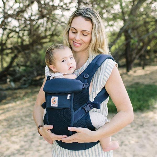 Grote foto babydraagzak adapt cool air mesh deep blue kinderen en baby overige babyartikelen