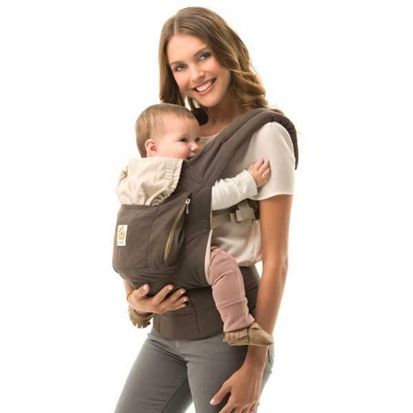 Grote foto babydraagzak organic dark cocoa kinderen en baby overige babyartikelen