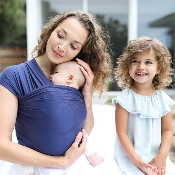 Grote foto draagdoek aura wrap indigo kinderen en baby overige babyartikelen