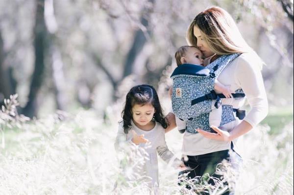 Grote foto babydraagzak adapt batik indigo kinderen en baby overige babyartikelen