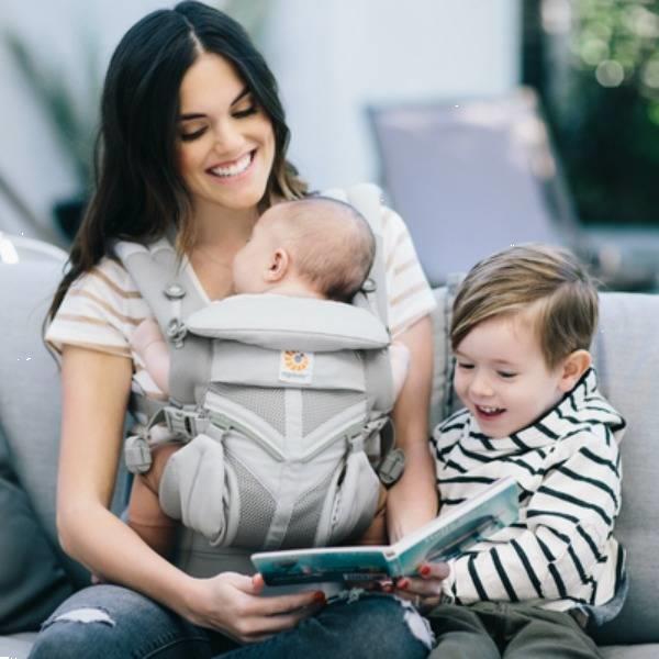 Grote foto babycarrier omni 360 cool air mesh pearl grey kinderen en baby overige babyartikelen