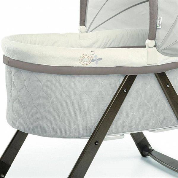 Grote foto ingenuity foldaway rocking wood reisbedje incl. bekleding en kinderen en baby complete kinderkamers