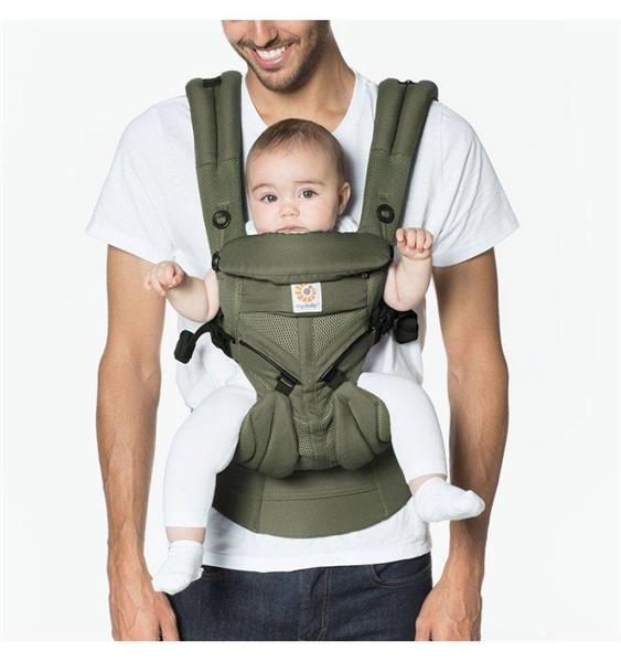 Grote foto carrier 4p omni 360 khaki green air mesh 0m kinderen en baby overige babyartikelen