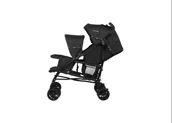 Grote foto twin stroller twing tweelingkinderwagen duowagen zwart kinderen en baby kinderwagens